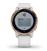 Garmin Vivoactive 4S - orologio sportivo - donna, White/Gold