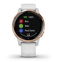 Garmin Vivoactive 4S - GPS Sportuhr - Damen, White/Gold