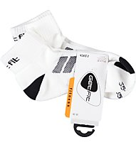 Get Fit Fitness L Bi-Pack Socken, White/Black