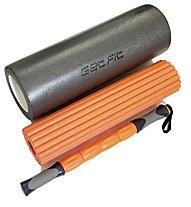Get Fit 3 in 1 Foam Roller - rullo da massaggio 3 in 1, Dark Grey/Orange