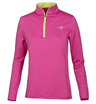 Get Fit B-Noret Half Zipper Bonded Fleece Damen, Fuchsia Purple
