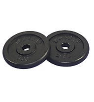 Get Fit Black Plate 2 x 2 kg, Black