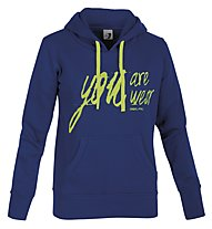 Get Fit Brushed fleece Hoodie W, Blue/Yellow
