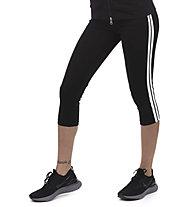 Get Fit Capri Pant Lurex  - 3/4-Fitnesshose - Damen, Black