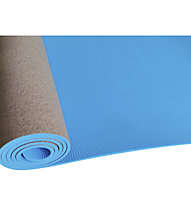 Get Fit Cork TPE Yoga - tappetino yoga, Blue/Brown