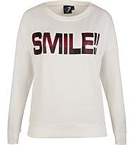 Get Fit Crew Neck Sweater Tartan - felpa - donna, White