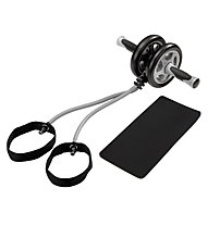 Get Fit Exerciser Wheel with Tube, Grey/Black