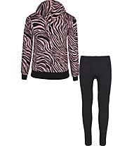 Get Fit Animalier - Trainingsanzug - Mädchen, Black/Pink