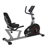 Get Fit Ride R282 - bici da camera orizzontale, Black/Red