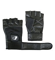 Get Fit Leather Fitness Gloves - Guanti, Black