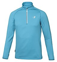 Get Fit Man Polar Fleece - Laufshirt Langarm Männer, Light Blue