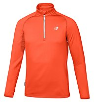 Get Fit Man Polar Fleece - Laufshirt Langarm Männer, Orange Fluo