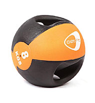 Get Fit Medicine ball 8KG, Black/Light Orange