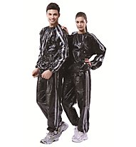 Get Fit PVC Sauna Suit - Completo, Black