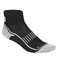 Get Fit Running Socks Bi-Pack - calzini running 2 paia, Black/Grey