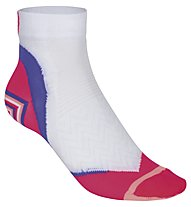 Get Fit Running Tech Socks - Kurze Laufsocken Damen, White/Purple