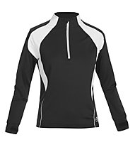 Get Fit Laufshirt Damen High End, Black/White