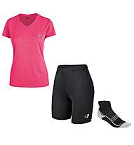 Get Fit SET Running Damen T-Shirt + kurze Hose + 2 Paar Socken