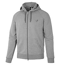 Get Fit Sweater Full Zip Hoodie - giacca sportiva con cappuccio - uomo, Grey
