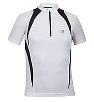 Get Fit Maglietta running C/Zip M, White/Black