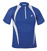 Get Fit Runningshirt C/Zip M, Blue/White