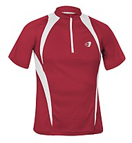 Get Fit Maglietta running C/Zip M, Red/White