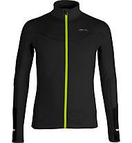 Get Fit Top Full Zip - Lauflangarmshirt - Herren, Black/Yellow