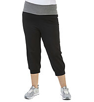 Get Fit Plus W Pant Band Plus - pantaloni fitness 3/4 - donna, Black