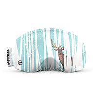 Gogglesoc Gogglesoc - protezione per maschera sci, White/Turquoise/Brown