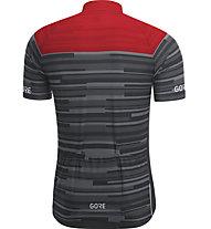 GORE WEAR Stripes Jersey - Fahrradtrikot - Herren, Black/Red
