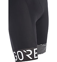 GORE WEAR Optiline - pantaloni bici corti con bretelle - uomo, Black/White