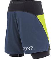 GORE WEAR R7 2in1 Shorts - Laufshorts - Herren, Yellow/Blue