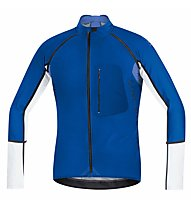 GORE BIKE WEAR Alp-X Pro WS SO Zip-Off Jersey, Blue/White