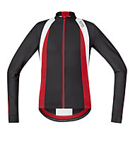 GORE BIKE WEAR Oxygen Jersey Long - Maglia Ciclismo, Black/Red/White