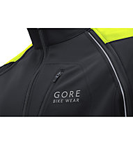 GORE BIKE WEAR Phantom Plus GORE WINDSTOPPER Zipp off - Radjacke - Herren, Black/Yellow