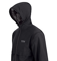 GORE RUNNING WEAR Essential AS Zip-Off Jacket, Black