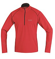 GORE RUNNING WEAR Essential maglia a maniche lunghe running, Red/Black