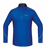 GORE RUNNING WEAR Essential - Laufshirt mit Zip Langarm - Herren, Blue/Black