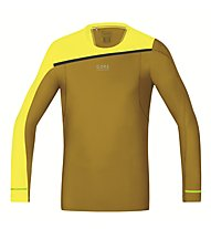 GORE RUNNING WEAR Fusion Shirt Long maglia a maniche lunghe running, Yellow/Gold