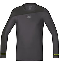 GORE RUNNING WEAR Fusion Shirt long - Laufshirt, Grey/Black