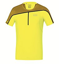 GORE RUNNING WEAR Fusion Zip Shirt - Laufshirt, Yellow