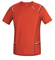 GORE RUNNING WEAR Mythos 6.0 Running Shirt, Orange/Black