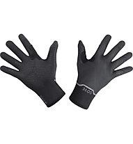 GORE WEAR GTX Infinium Stretch Mid - guanti running, Black/Grey