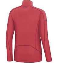 GORE WEAR Thermo Long Sleeve Zip - maglia running - donna, Red