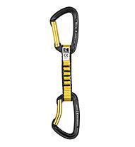 Grivel All-Round Alpha - rinvio arrampicata, Black-Yellow / 11 cm