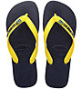 Havaianas Brasil Layers - Zehensandale, Blue/Yellow