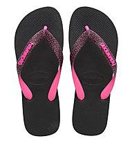 Havaianas Top Bold - Zehensandalen - Damen, Black/Pink