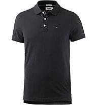 Tommy Jeans Cotton Orginal Flag - Polo - Herren, Black
