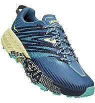 Hoka One One Speedgoat 4 - scarpe trail running - donna, Blue/Yellow/Green