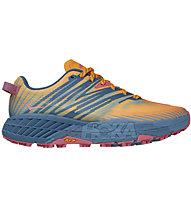 Hoka One One Speedgoat 4 - scarpe trail running - donna, Orange/Blue/Red